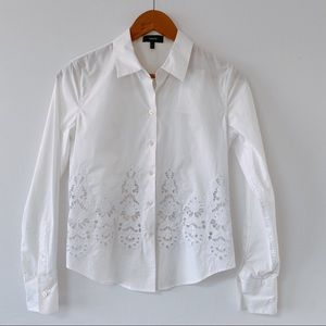 Theory Whige Cotton Button Down Shirt NWT ($265)